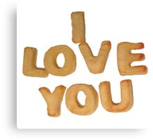 I Love You (Alphabites) Canvas Print