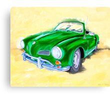 Retro Cool - VW Karmann Ghia Canvas Print
