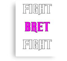 Support Bret Hart and Prostate cancer Canvas Print