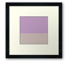Simple Chic Lavender Polka Dots on Pastel Yellow Framed Print
