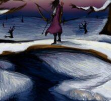 Dragon's Last Snowfall- Digital Art Sticker