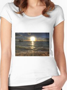 West Mersea Sunset Women's Fitted Scoop T-Shirt