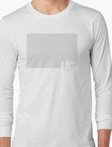 18% Grey Test Tee Long Sleeve T-Shirt