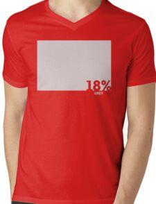 18% Grey Test Tee Mens V-Neck T-Shirt