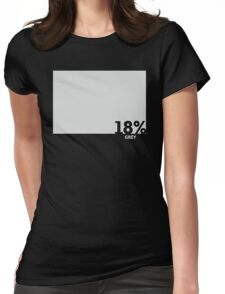 18% Grey Test Tee Womens Fitted T-Shirt