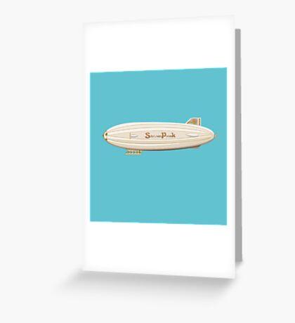 Flying airship Greeting Card