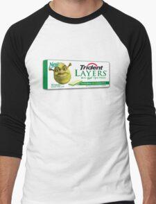 Shrek-Gum Trident Layers Men's Baseball ¾ T-Shirt