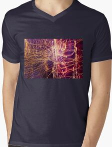 Long Exposure Fairylights Mens V-Neck T-Shirt
