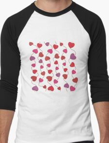 Shower Hearts Men's Baseball ¾ T-Shirt
