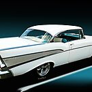 57 Chevy Bel-Air Hardtop in Silver and White by ChasSinklier
