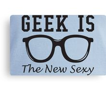 Geek is The New Sexy Glasses Canvas Print