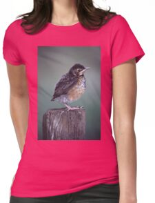 Baby Robin Portrait Womens Fitted T-Shirt