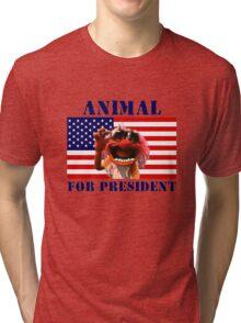Animal for President Tri-blend T-Shirt