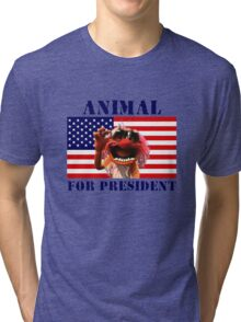 Animal for President Tri-blend T-Shirt