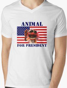 Animal for President Mens V-Neck T-Shirt