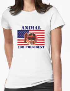 Animal for President Womens Fitted T-Shirt