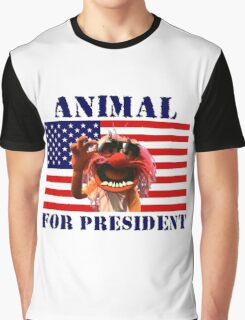 Animal for President Graphic T-Shirt
