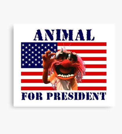 Animal for President Canvas Print