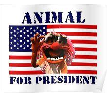 Animal for President Poster