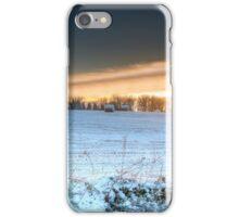 Winter Sunrise in Central Scotland iPhone Case/Skin