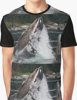 Humpback Whales Breaching Graphic T-Shirt