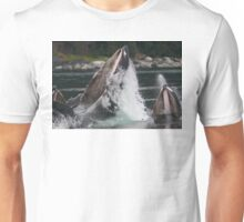 Humpback Whales Breaching Unisex T-Shirt