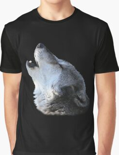 Wolf Howling Graphic T-Shirt