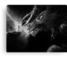Valley of the Shadow Original Charcoal art Canvas Print
