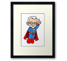Letterman Framed Print