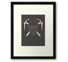 Skull and Cross Axes Framed Print