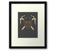Skull and Cross Axes Framed Print