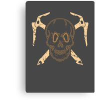 Skull and Cross Axes Canvas Print