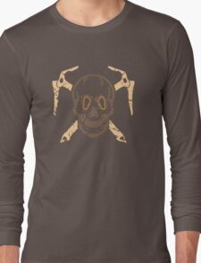 Skull and Cross Axes Long Sleeve T-Shirt