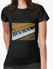 Piano Notes Womens Fitted T-Shirt