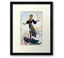 Tarot card - The Fool Framed Print