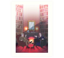Discussion at 221B Art Print