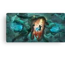 Inoculating the Water Dragon  Canvas Print