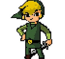 Pixel Toon Link by Aiden  Wall