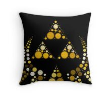 Triforce Large Dots Throw Pillow