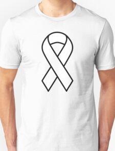 White Lung Cancer Ribbon T-Shirt