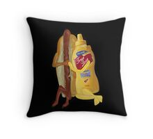 (✿◠‿◠) HOT DOG! WE GO TOGETHER EVERLASTING LOVE VARIOUS APPAREL (✿◠‿◠) Throw Pillow