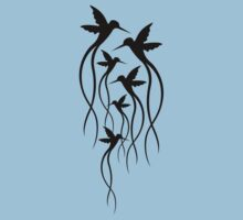 Humming Birds One Piece - Short Sleeve