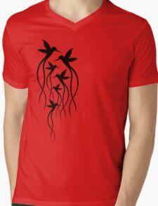 Humming Birds Mens V-Neck T-Shirt