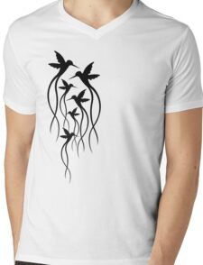 Humming Birds Mens V-Neck T-Shirt