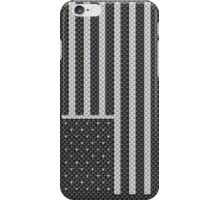 USA American Flag Stars and Stripes Carbon Fiber White on Black iPhone Case/Skin
