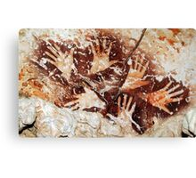 Hands from the past - Lescaux  Canvas Print
