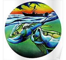 Tarpon Sunset Poster