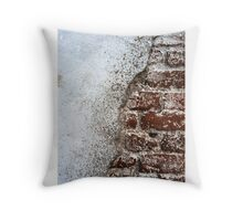 Old red brick wall . Throw Pillow