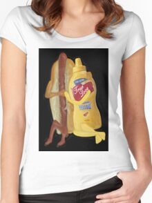 (✿◠‿◠) HOT DOG! WE GO TOGETHER EVERLASTING LOVE VARIOUS APPARE(✿◠‿◠) Women's Fitted Scoop T-Shirt