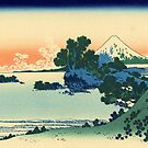 'Shichiri Beach in Sagami Province' by Katsushika Hokusai (Reproduction) by Roz Abellera Art Gallery
